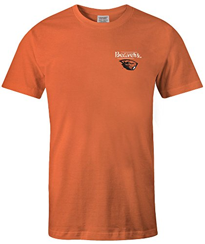 NCAA Oregon State Beavers Adult NCAA Sketchbook Comfort Color Short sleeve T-Shirt, XX-Large,BurntOrange