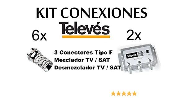 Kit 2 X Mezclador DIPLEXOR Separador DE SEÑALE SATELITE Y ...