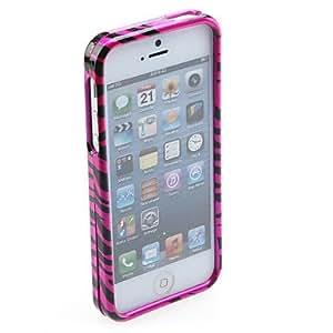 HP-Diseño de diamantes de imitación rosa y estuche rígido con forma de corazón para el iphone 5/5s