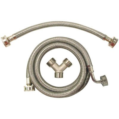 CERTIFIED APPLIANCE STMKIT2 Braided Steam Dryer Induction Kit, Stainless Steel