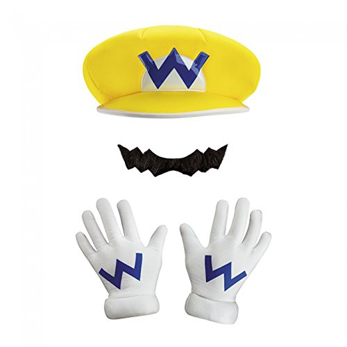 Super Mario Bros Nintendo Wario Instant Costume Kit Adult