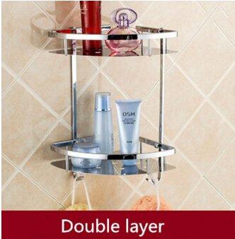 tougmoo hot sale wandmontage chrom edelstahl bad seifenschale badewanne dusche badewanne regal shampoo halter korb eckregal - Eckregal Dusche Glas