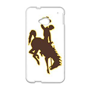 NCAA Wyoming Cowboys Secondary 2013 White Phone Case for HTC M7