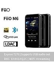 مشغل الموسيقى MP3 عالي الدقة بدون خسارة من FiiO M6 مع تقنية aptX، aptX HD، بلوتوث إل داك هاي فاي، USB اوديو / DAC، DSD/Tidal/Spotify يدعم شاشة لمس كاملة تعمل بالواي فاي/الهواء