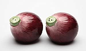 Cosmos 20838 Gifts Purple Onion Salt and Pepper Set, Ceramic, 2-1/8-Inch