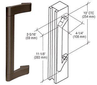 Crl duranodic bronze finish extruded aluminum pull handle screen crl duranodic bronze finish extruded aluminum pull handle sciox Images