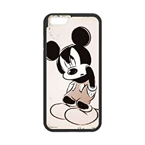 iPhone 6 Plus 5.5 Inch Cell Phone Case Black Disney Mickey Mouse Minnie Mouse oogw