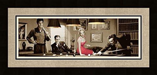 Acción Legal Marilyn Monroe Elvis jugando al con marco Triple de ...