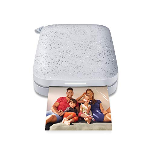 HP Sprocket Portable 2×3″ Instant Photo Printer (Luna Pearl) Print Pictures on Zink Sticky-Backed Paper from your iOS & Android Device.