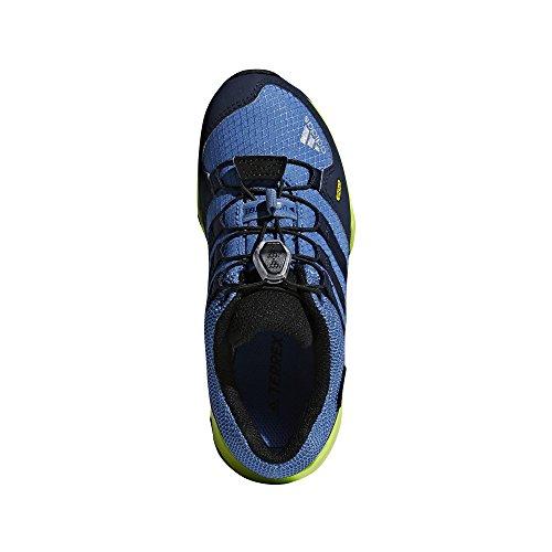 adidas Unisex-Kinder Terrex GTX Trekking-& Wanderhalbschuhe Blau (Bleu Gris/Marine/Jaune Fluo)
