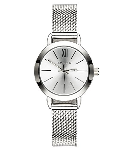 Quartz Silver Wrist Watch (KASHIDUN Women's Quartz Watches Wrist Watches Silver Small Dial Mesh Alloy Milanese Bracelet.SD-Y)