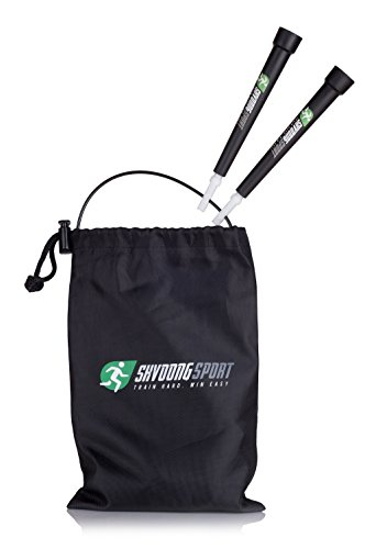 Shvoongsport Crossfit Jump Rope-Fast Speed,Adjustable Length-Best for Training Boxing, MMA ,RX,WOD's - Includes Free Sport Towel ,Ebook,handy bag,Extra Cable & Extra Screws by Shvoong Sport