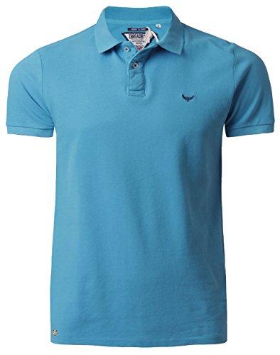 Threadbare Herren Polo Shirt Kragen Kurzarm Sommer Baumwolle MMT 018 Hellblau, Gr. Small