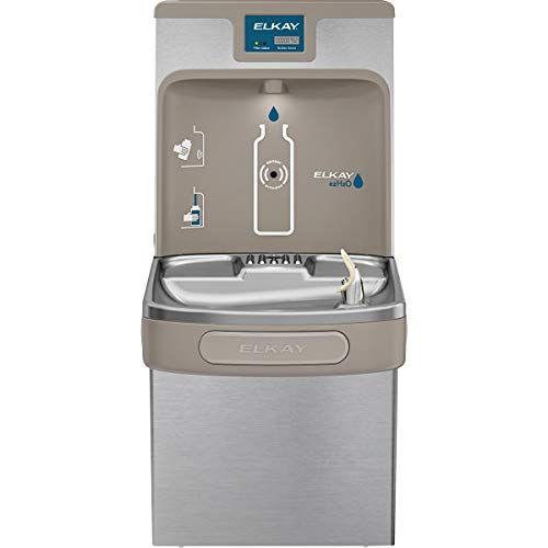 - Elkay LZS8WSSP Enhanced EZH2O Bottle Filling Station & Single ADA Cooler, Filtered 8 GPH Stainless