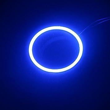GrandView 2x 80mm Angel Eyes Halo Ring Lamp Light Bulb 63SMD Headlight COB-White