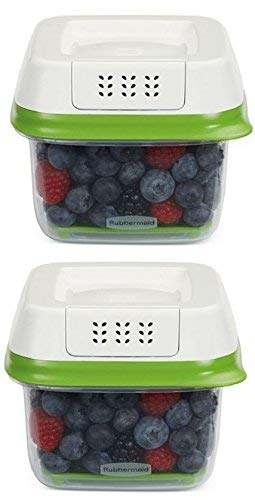 Rubbermaid FreshWorks Produce Saver Food Storage Container, Small Square, 2.5...