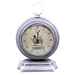 Hobby Lobby Decorator Desk Clock, Unique Style and Material (Matte Silver, Metal)
