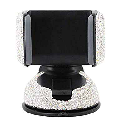 Radish Stars Adjustable Strong Sticky Dashboard and Various Car Phone Mount Crystal Rhinestone Phone Holder for Car