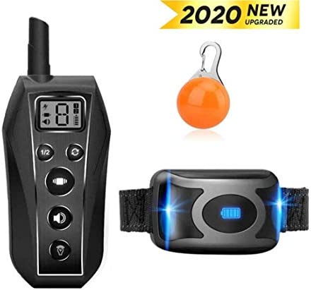 EKOHOME Dog Training Collar, IP67 Waterproof and Rechargeable Dog Collar Trainer with Vibration Beep Light 3 Modes for Home Training Use, Bright LED light, 600 Yards Range, For Small Medium Large Dogs