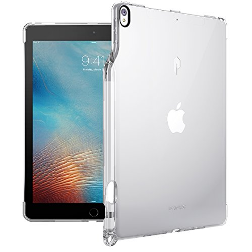 Poetic Lumos Flexible Soft Transparent Ultra-Thin Impact Resistant TPU Case for Apple iPad Pro 10.5 Crystal ()