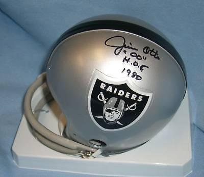 Jim Otto Signed Mini Helmet - 'd COA - PSA/DNA Certified - Autographed NFL Mini Helmets