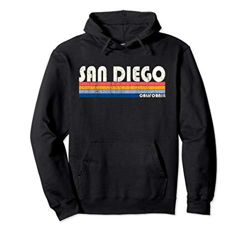(Vintage 70s 80s Style San Diego CA Hoodie)
