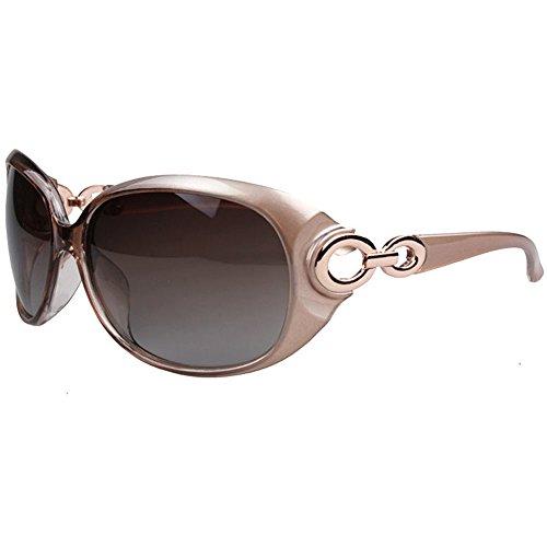 Morpho Diana Women's Shades Classic Oversized Polarized Sunglasses 100% UV Protection (champagne, - Uv 100