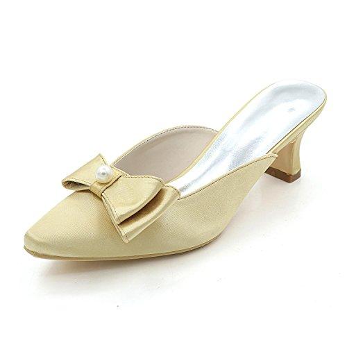 Sandales femmes bas Talons Pantoufles Talons pour hauts Chaussures YC Mariage L gold Nuit vqp1t