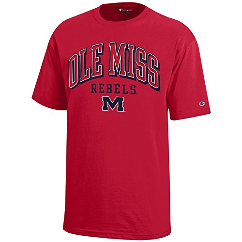 (Champion NCAA Mississippi Old Miss Rebels Youth Boys Short Sleeve Jersey T-Shirt, Large, Scarlet)