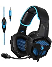 SADES SA920 Pro Stereo PC Surround Sound Gaming Headset cuffia con microfono per PS4 Xbox one PC Mac iPhone Smartphone (blu)