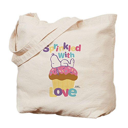By Cafepress Peanuts Tote Bag Love With Snoopy Sprinkled 4qq01ErHw