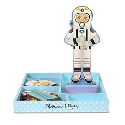 Melissa & Doug Julia Magnetic Dress-Up Wooden Doll Pretend Play Set (25+ pcs): Toys & Games