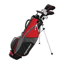 Wilson Golf Pro Staff JGI LG Juego de Palos Junior para Niños de entre 11 y 14 Años, Altura: 142 - 160 cm, Mano Dominante Derecha, Grafito, Incl. Bolsa de Transporte, Rojo, WGGC91840