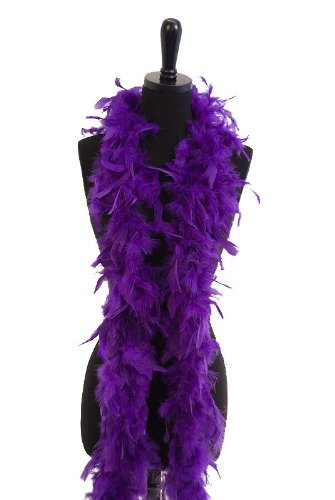 6' 60g Adult Feather Boa, Purple (Costume Party Ideas For Adults)