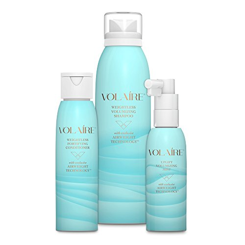 Volaire Volumizing Hair System Shampoo (4 oz), Conditioner (3.5 oz) and FREE Uplift Volumizing Mist (2 oz) – Add Volume, Bounce, Body Lift, Sulfate Free, Paraben Free, Safe for Color (Volumizing System)