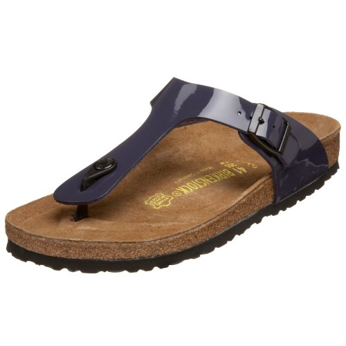 Birkenstock Gizeh Black Womens Sandals Crushed Berry Patent