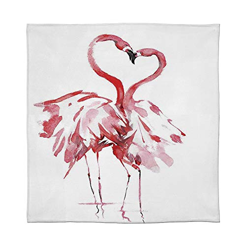 YOLIYANA Lightweight Blanket,Flamingo Decor,for Bed Couch Chair Fall Winter Spring Living Room,Size Throw/Twin/Queen/King,Flamingo Couple Kissing Romance Passion Partners in 03 Passion 1 Light