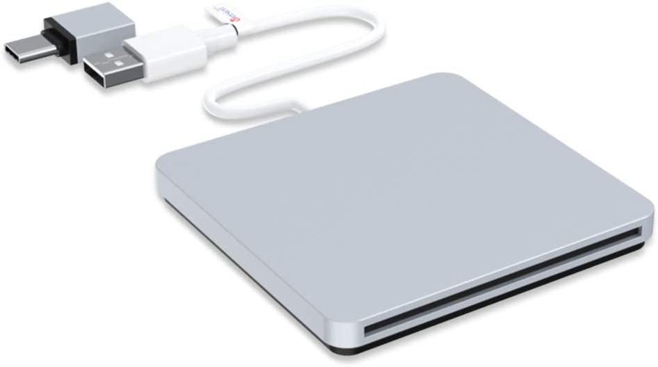 External CD DVD Drive, VersionTECH. USB C Type-c Ultra Slim Portable CD DVD RW DVD CD ROM Burner Writer Superdrive with High Speed Data Transfer Compatible with Mac MacBook Pro Air iMac Laptop