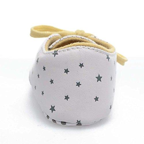 Chaussures né Enfant Sole Blanc Star Antidérapants Nouveau Qhgstore Imprimer Unisexe 12cm Baby Doux dxwR4f