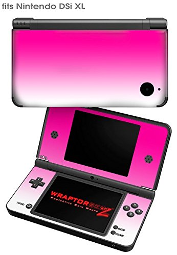 Nintendo DSi XL Skin Smooth Fades White Hot Pink