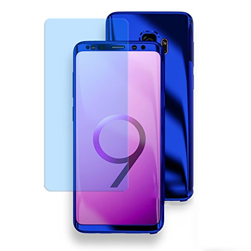 Omorro For Galaxy S9 Plus Chrome 360 Degree Full Body Case Soft HD Screen Protection Protector Film Ultralight Slim Hard Mirror Chrome Electroplate Cover For Samsung Galaxy S9 Plus (Mirror Case Screen Protector)