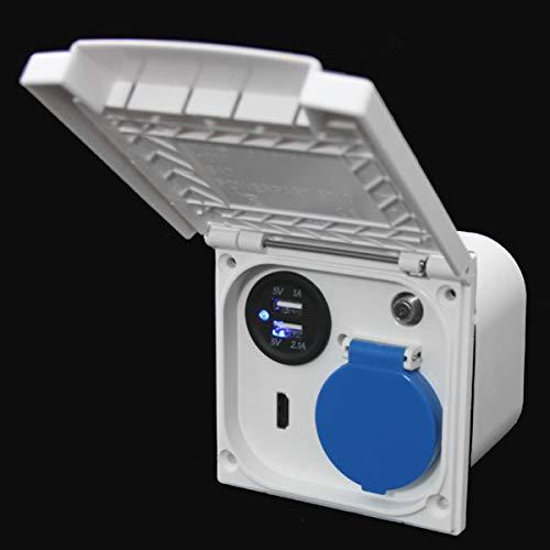Antena de sat/élite Schuko Caravana 230 V Barco HDMI 12 V Enchufe multifunci/ón para Caravana USB 220 V