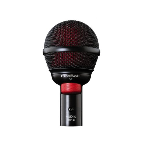 New Audix | High-Performance Professional Microphone for Harmonica and Beatbox, FIREBALL V with Cardioid Pickup Pattern and Dynamic Moving Coil Transducer by Audix
