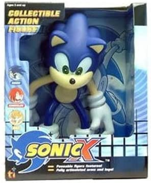 Amazon Com Sonic X Sonic The Hedgehog Large 9 Collectible Action Figure Toys Games