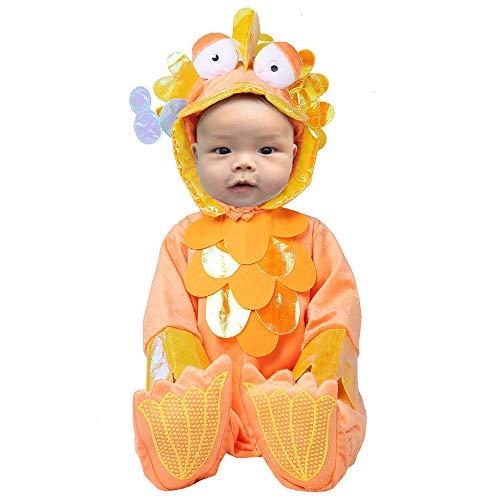 Goldfish Halloween Costume (Toddler Baby Infant Aquatic Goldfish Halloween Dress up Outfit)