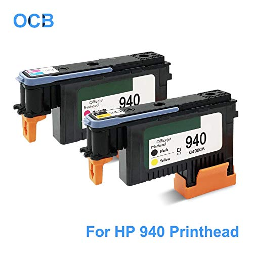 Printer Parts for Hp 940 Printhead C4900A C4901A 940 Print Head for Hp Officejet Pro 8000 8500 8500A A809A A809N A811A A909A A909N A909G A910A - (Color: 1Pc - C and M) ()