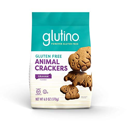 Gluten Free by Glutino Animal Crackers, Crunchy and Sweet, Graham Flavor, 6 Ounce