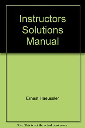 instructors solutions manual introductory mathematical analysis for rh amazon com Test Bank Solution Manual