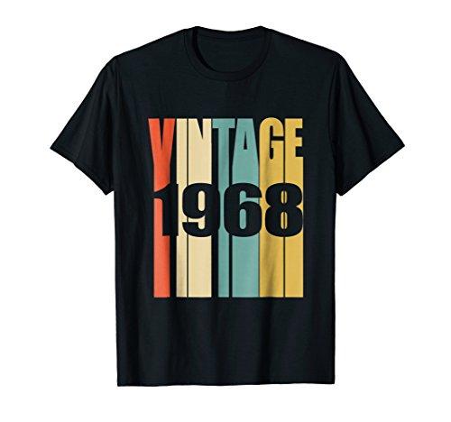 Mens Retro Vintage 1968 T-Shirt 50 yrs old Bday 50th Birthday Tee Large ()
