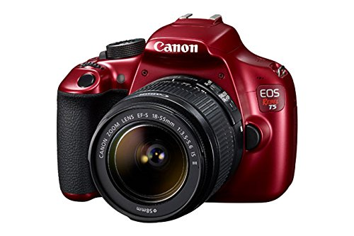 Canon EOS Rebel T5 18.0MP Digital SLR Camera Kit with EF-S 18-55mm IS II Lens – Red (Certified Refurbished)